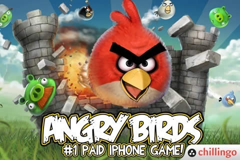 Screen-shot of the Angry Birds application