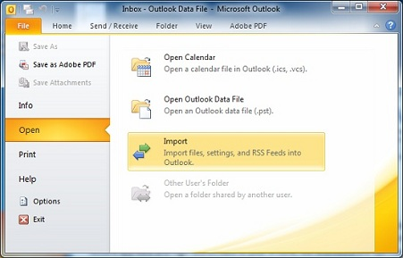 Outlook Import