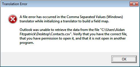 Translation error screenshot